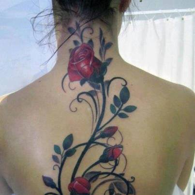 Татуировки на спине 50