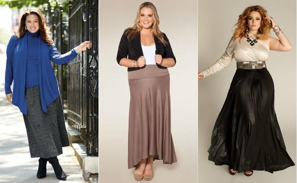 Ассиметричные юбки на полных