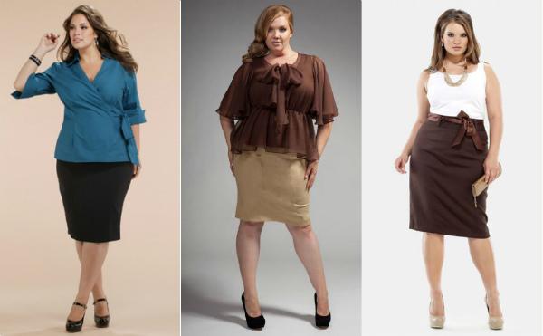 Модели прямых юбок на полных женщин фото