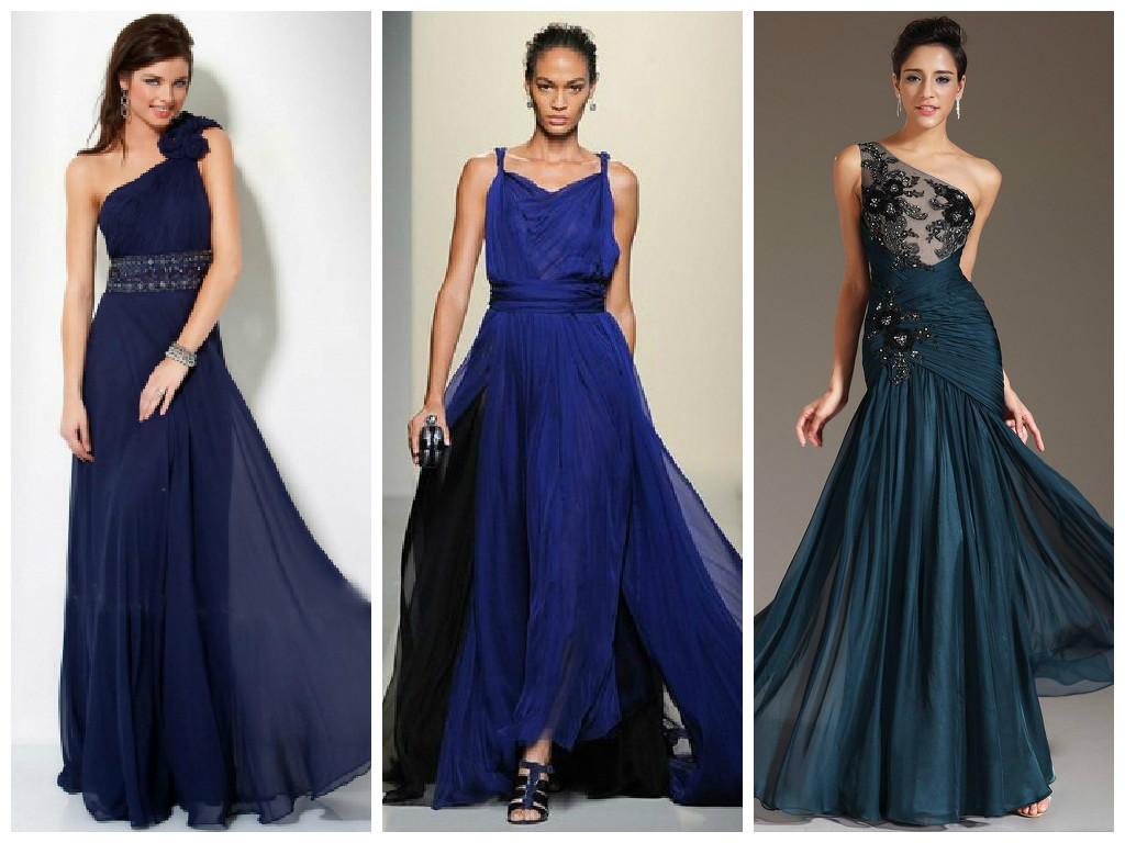 Длинное Синее Платье В Пол Купить