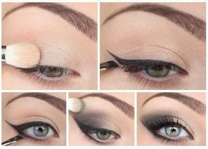 макияж глаз. пошаговое фото