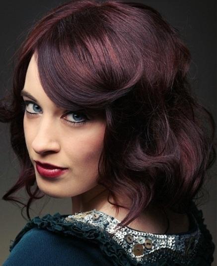 Цвет волос бордо