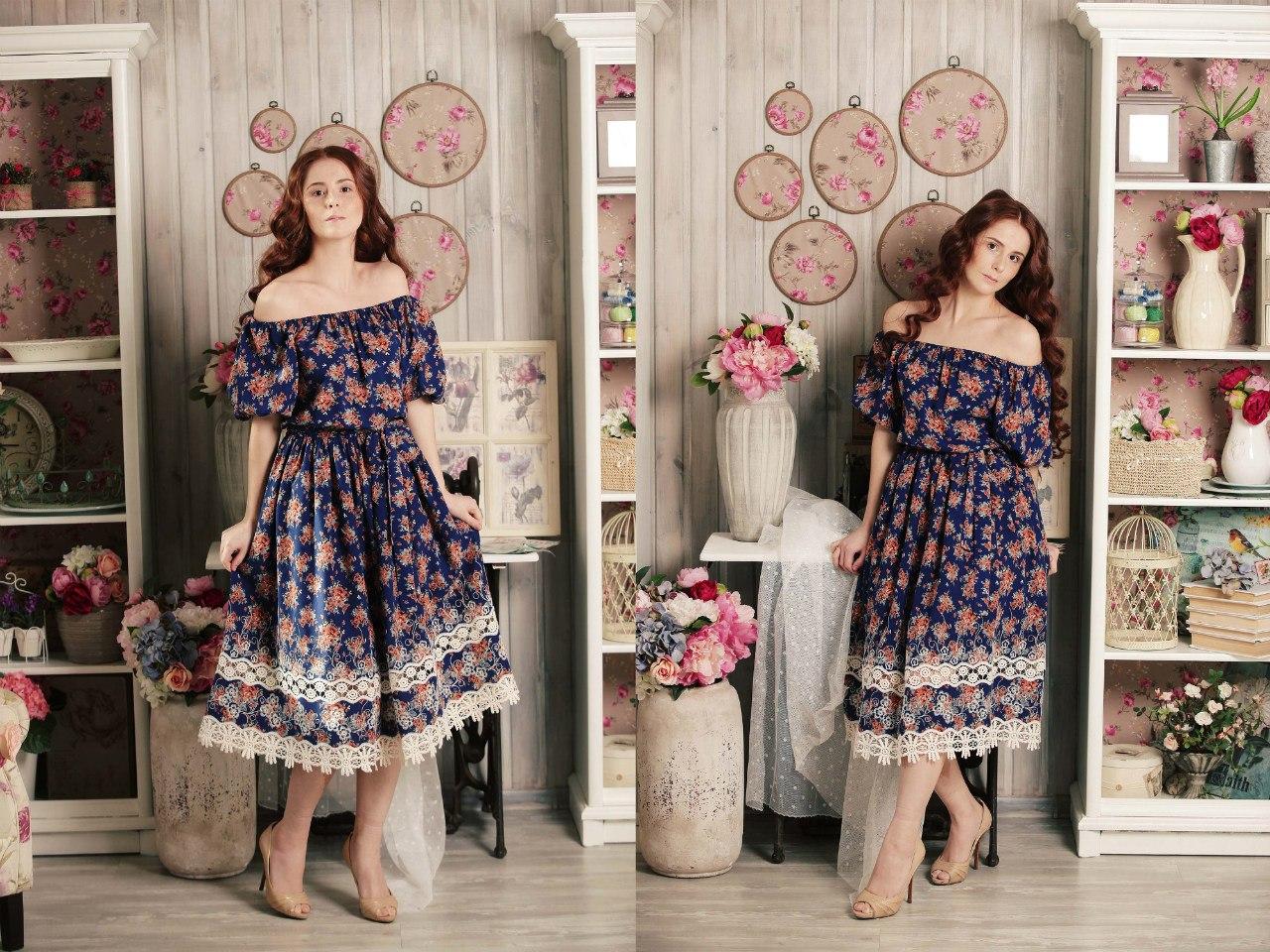 платья с воланами на плечах фото