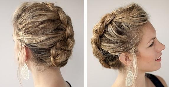 Укладка с косами на средние волосы