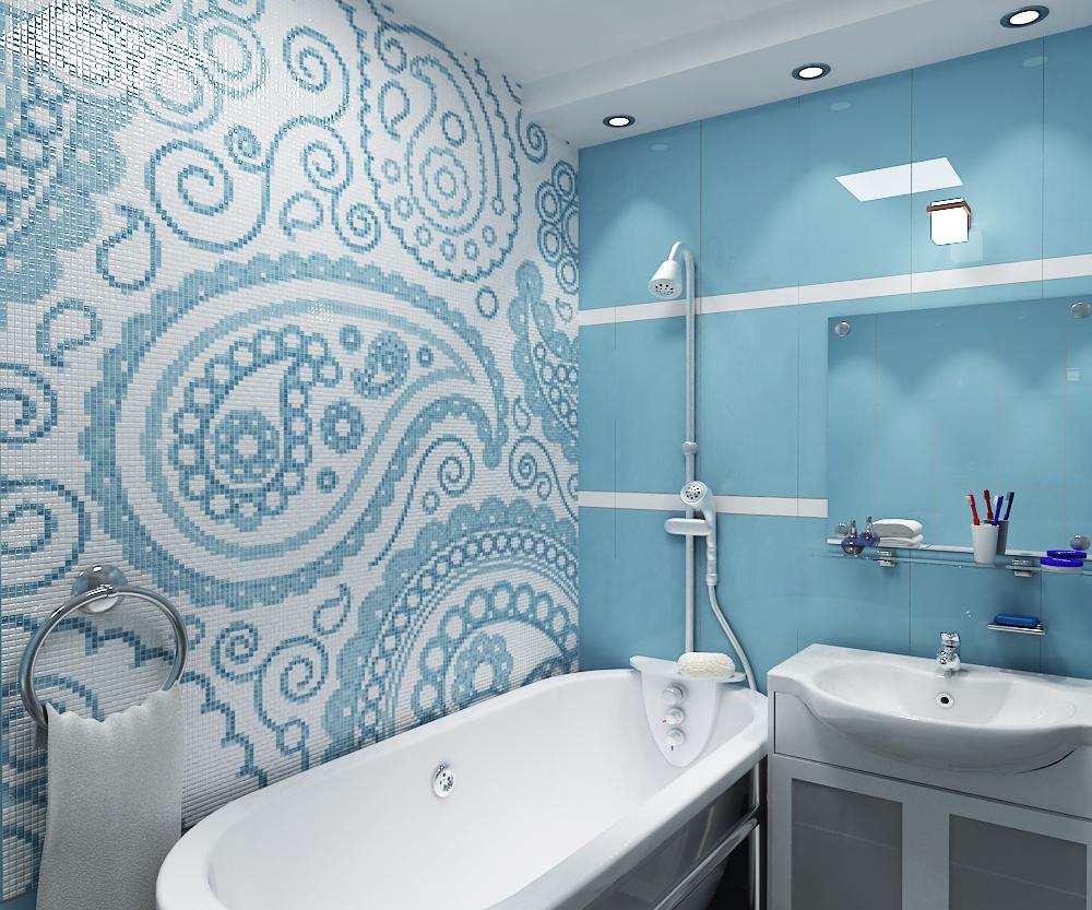 Узоры из плитки в ванной фото