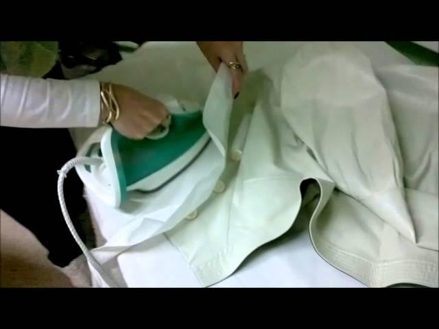 как убрать складки с кожзаменителя