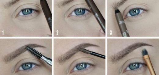макияж бровей пошаговое фото