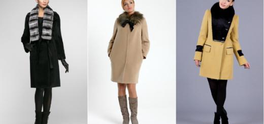зимнее пальто с меховым воротником фото