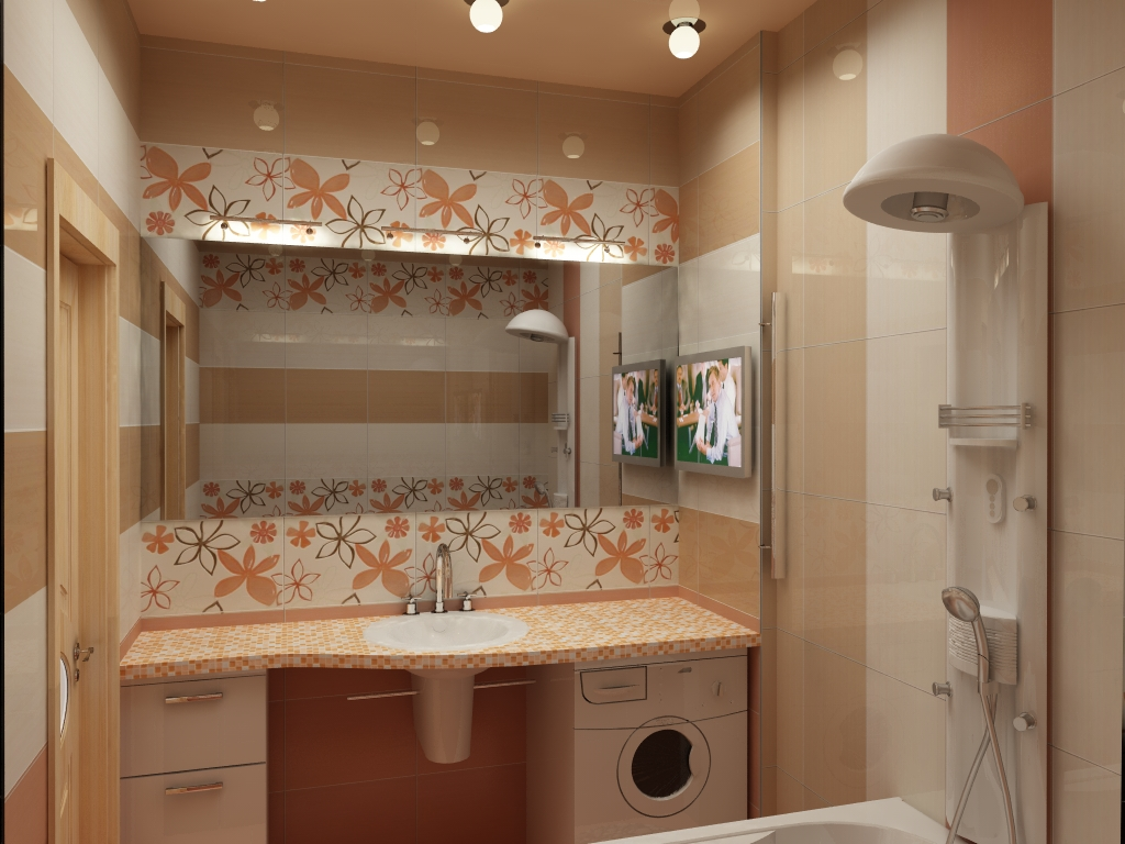 Интерьер маленькой ванной своими руками