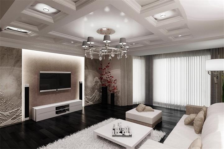 интерьер зала в современном стиле фото