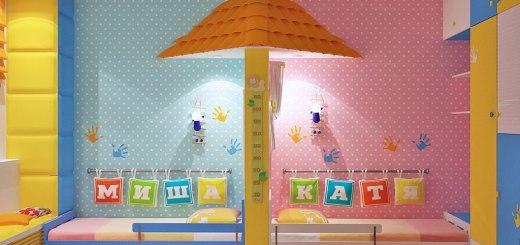 дизайн детской для мальчика и девочки вместе