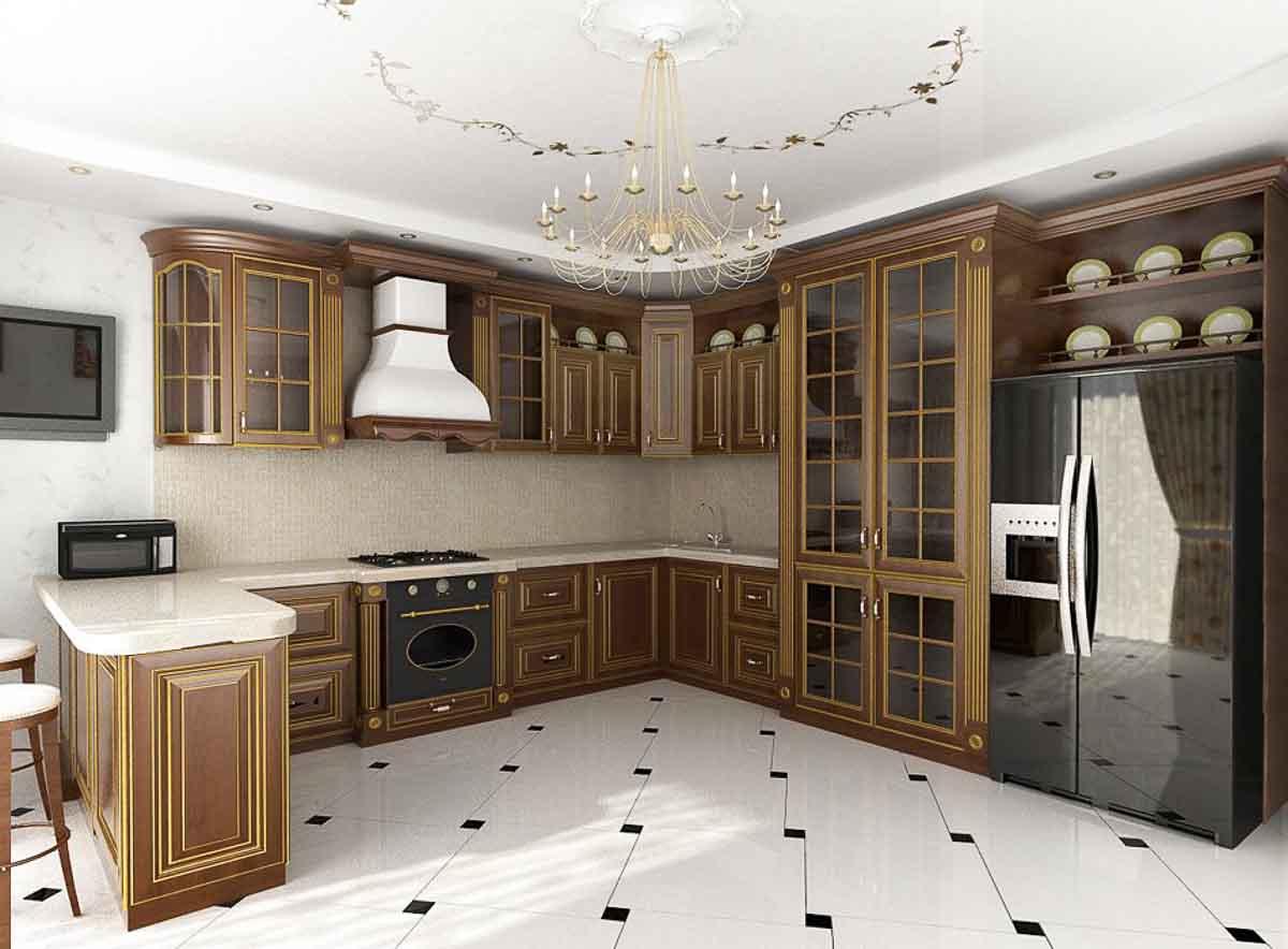 Дизайн кухни классический стиль фото