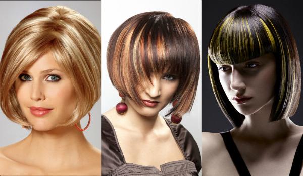 Покраска волос для коротких волос