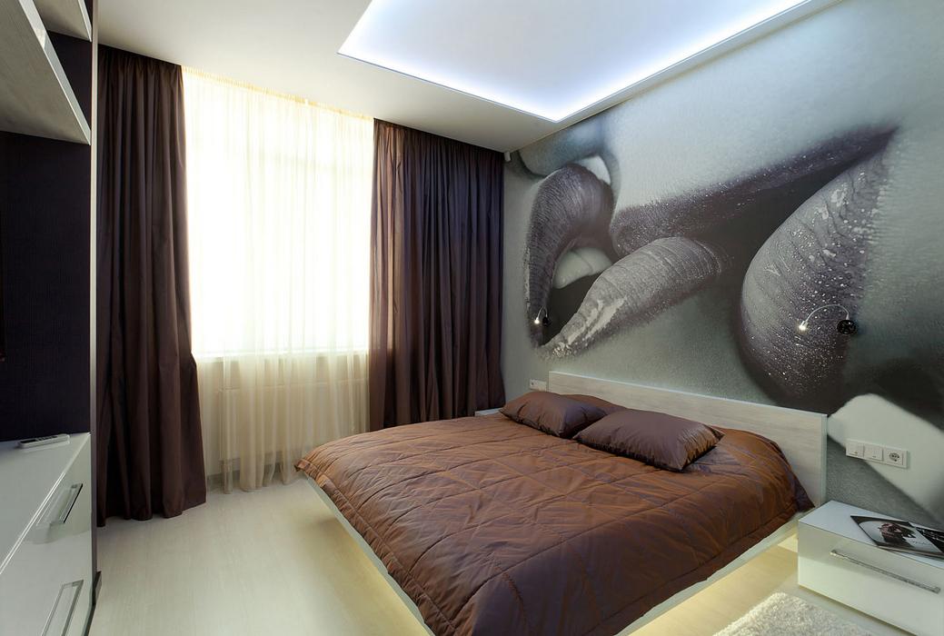 Спальня дизайн фото с фотообоями