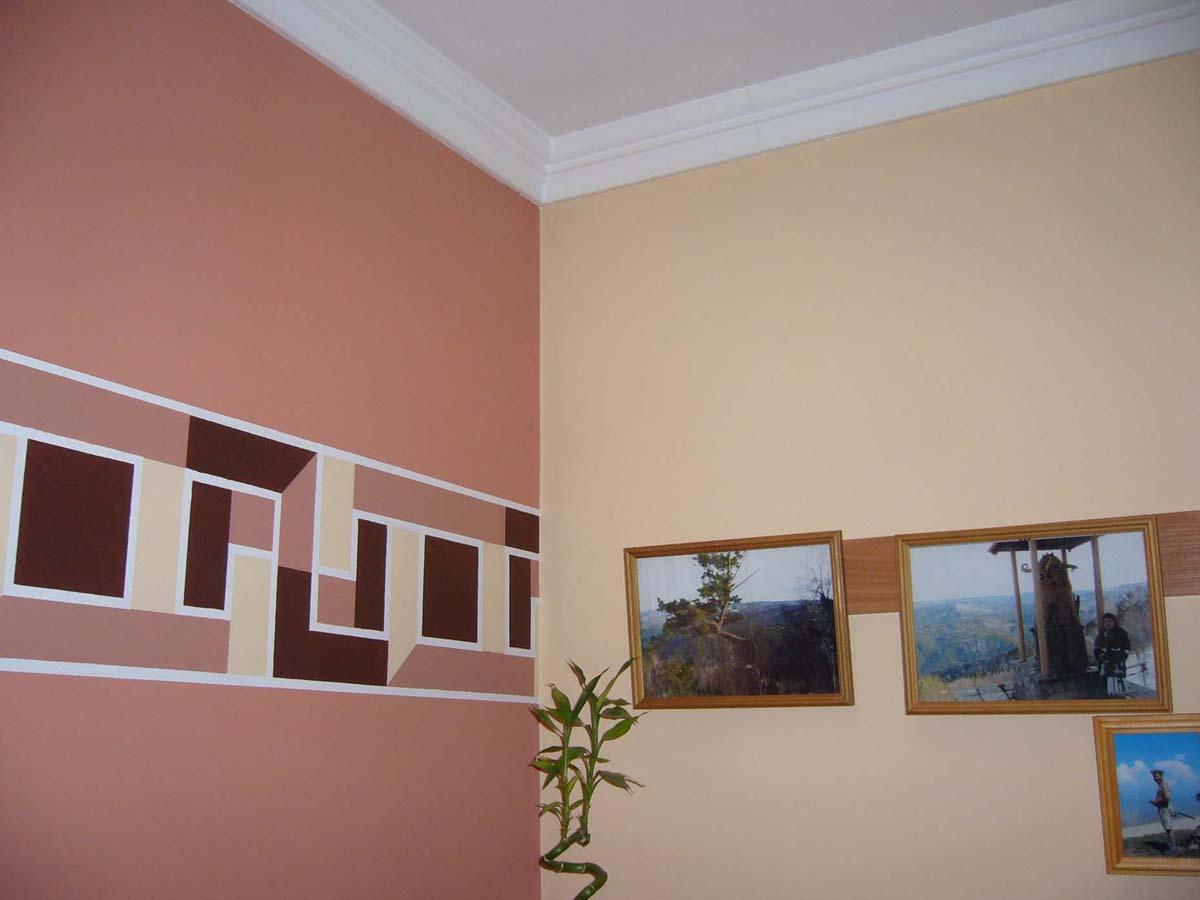 Окрашенные стены фото