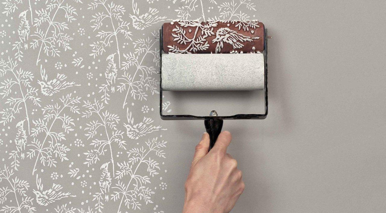 Декор стен красками своими руками