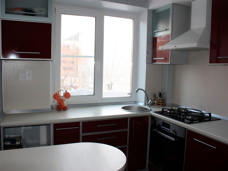 Дизайн кухні 6 кв м фото