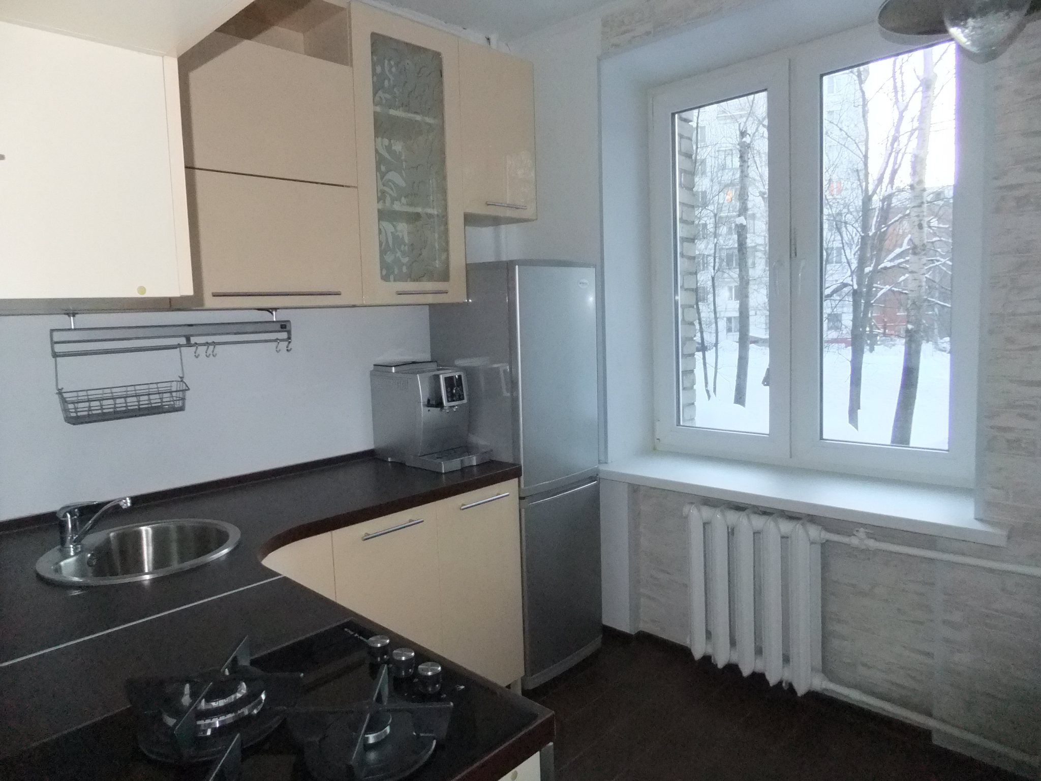 Дизайн кухни 3 кв.м фото с окном