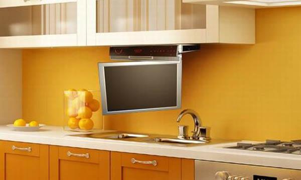 телевизор на кухне варианты размещения фото