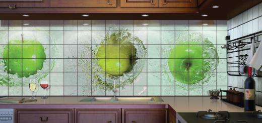 дизайн фартука для кухни из плитки фото