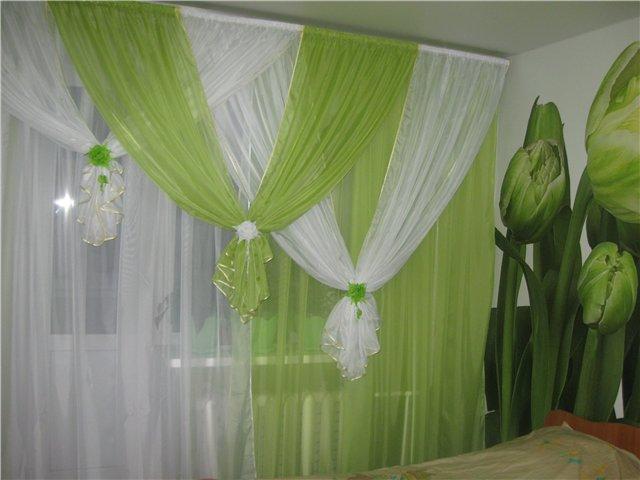 Недорогие шторы для гостиной фото