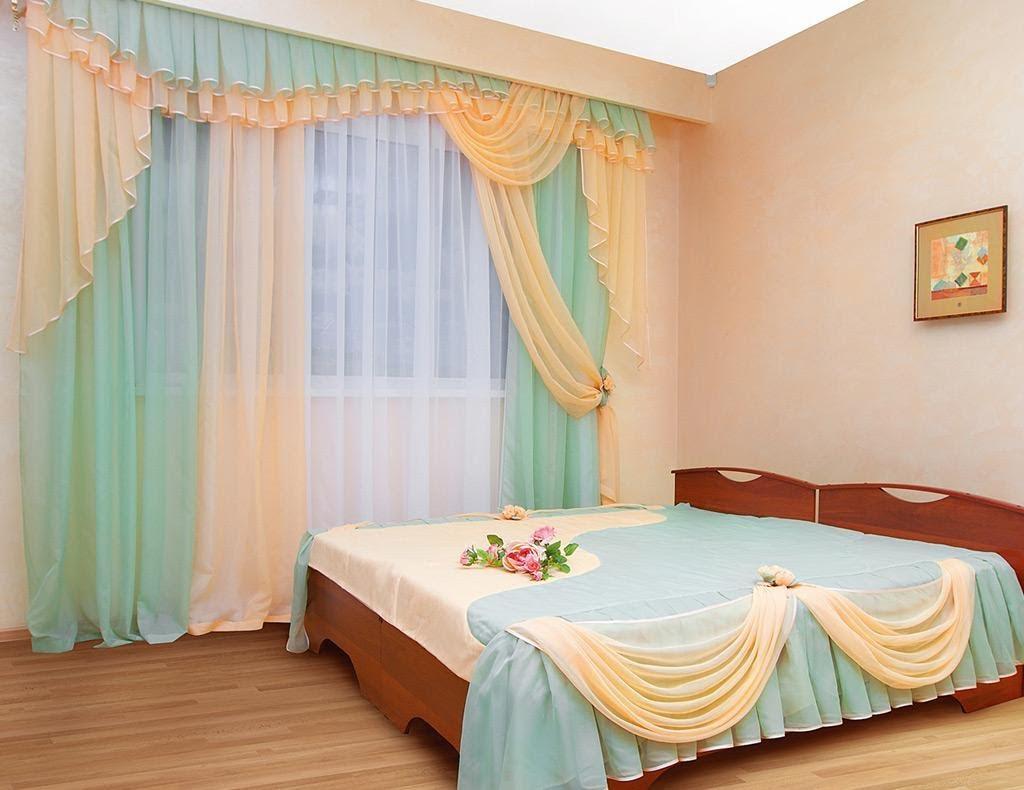 шторы из вуали двух цветов фото