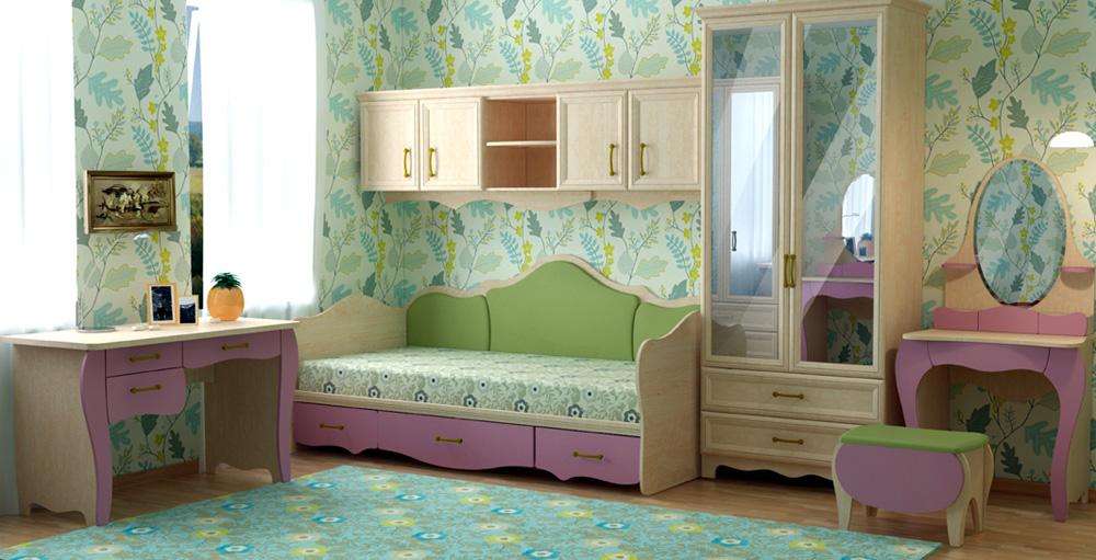 Цвет комнаты для девочек фото