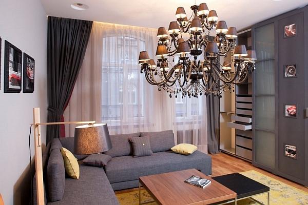 дизайн однокомнатной квартиры 30 кв.м фото в современном стиле