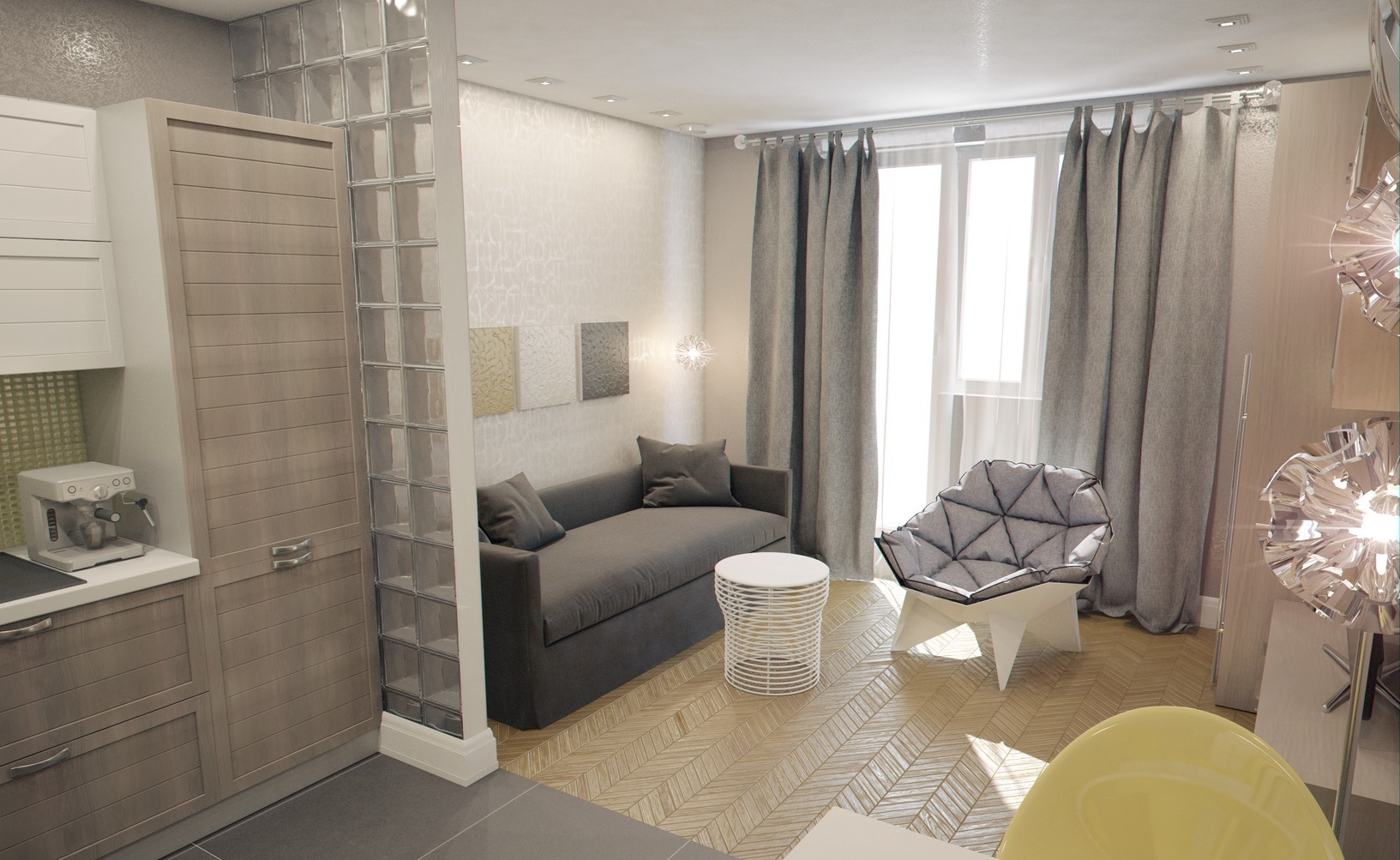 Комната студия 20 кв м дизайн