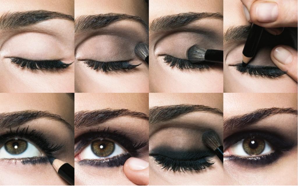 Как красить глаза пошагово с