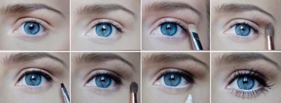 Выразительные глаза пошагово