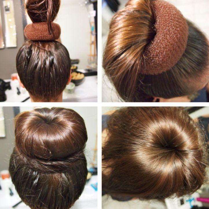 Причёски с бубликом для девочек