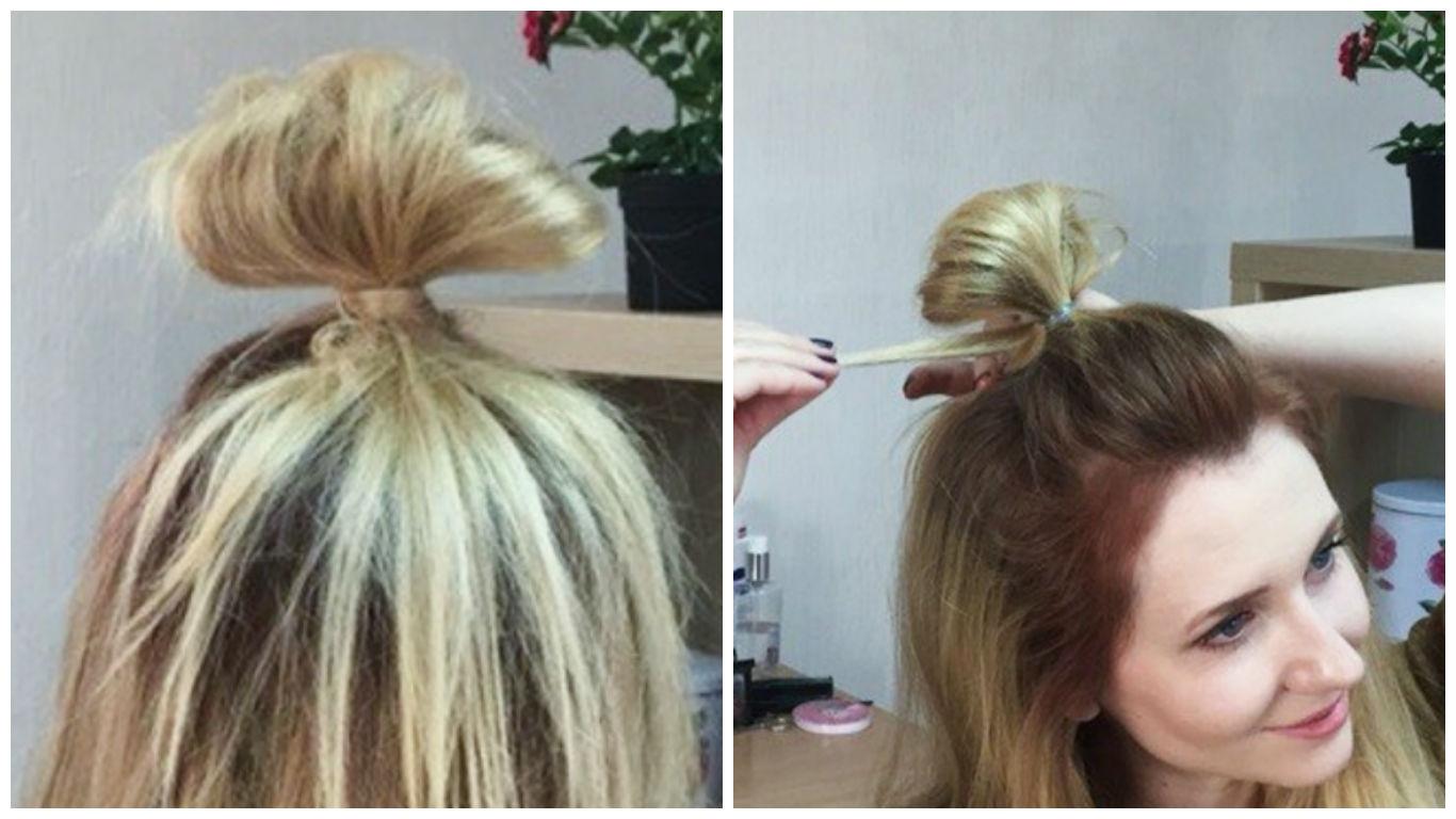 Прическа луковка на голове
