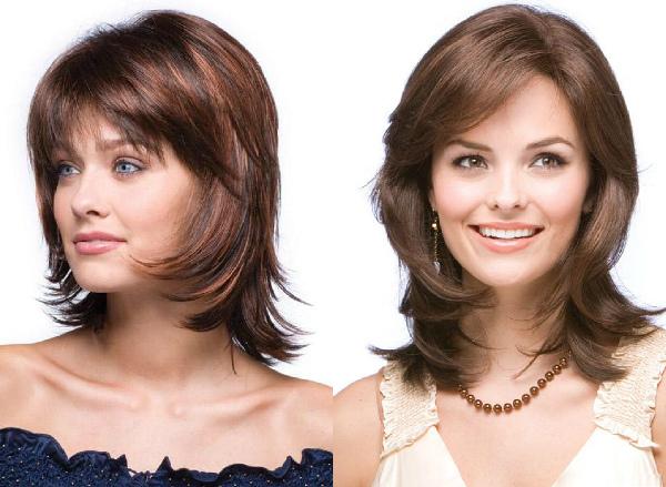 стрижка дебют на средние волосы фото с челкой