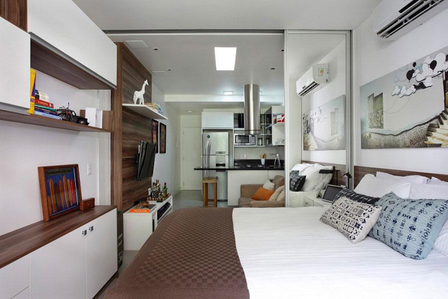 интерьер прямоугольной квартиры студии 1
