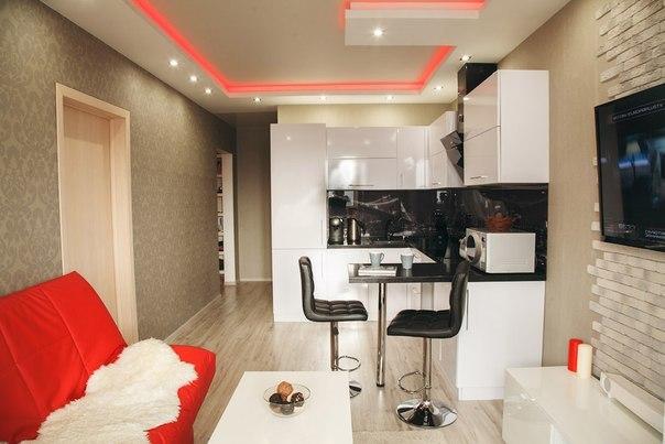 квартира-студия 26 кв.м фото интерьер и планировка