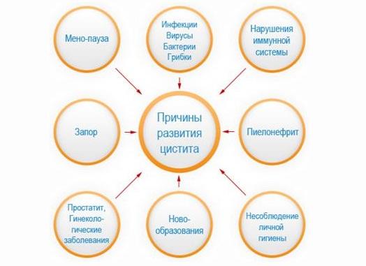 Медикаменты для лечения цистита