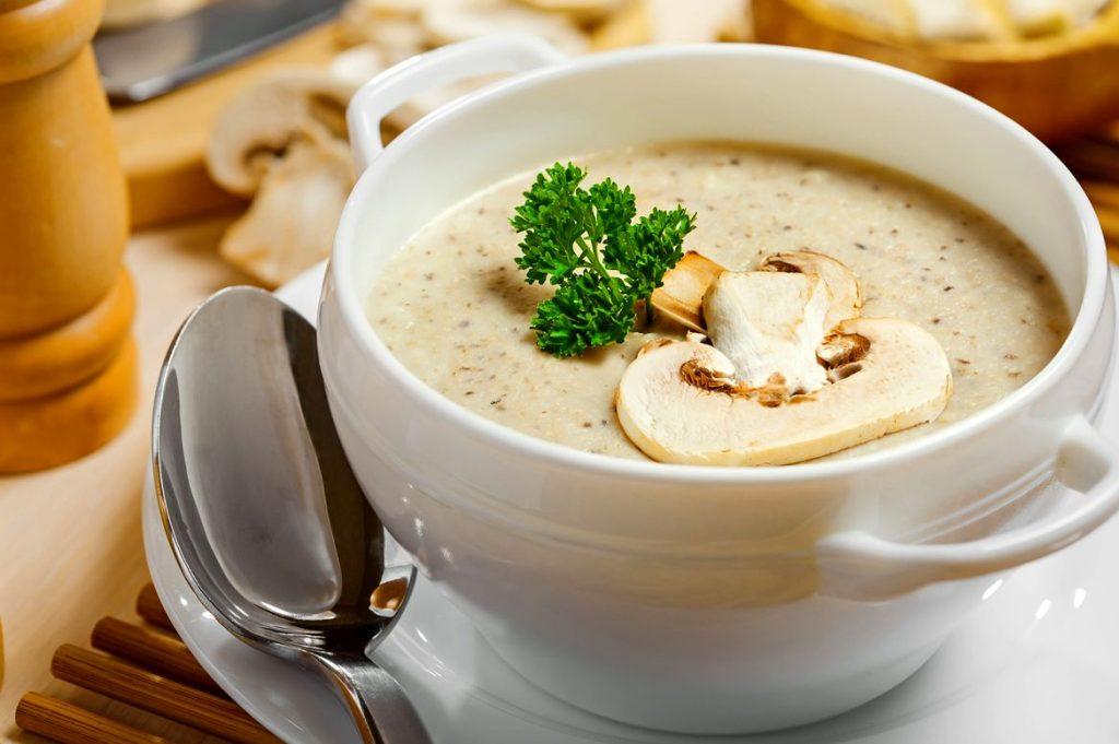 суп-пюре из шампиньонов со сливками рецепт классический